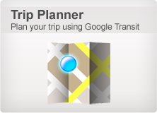 Plan your trip using Google Transit